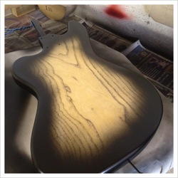 custom sunburst guitar finishing