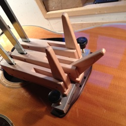 glue acoustic guitar bridge