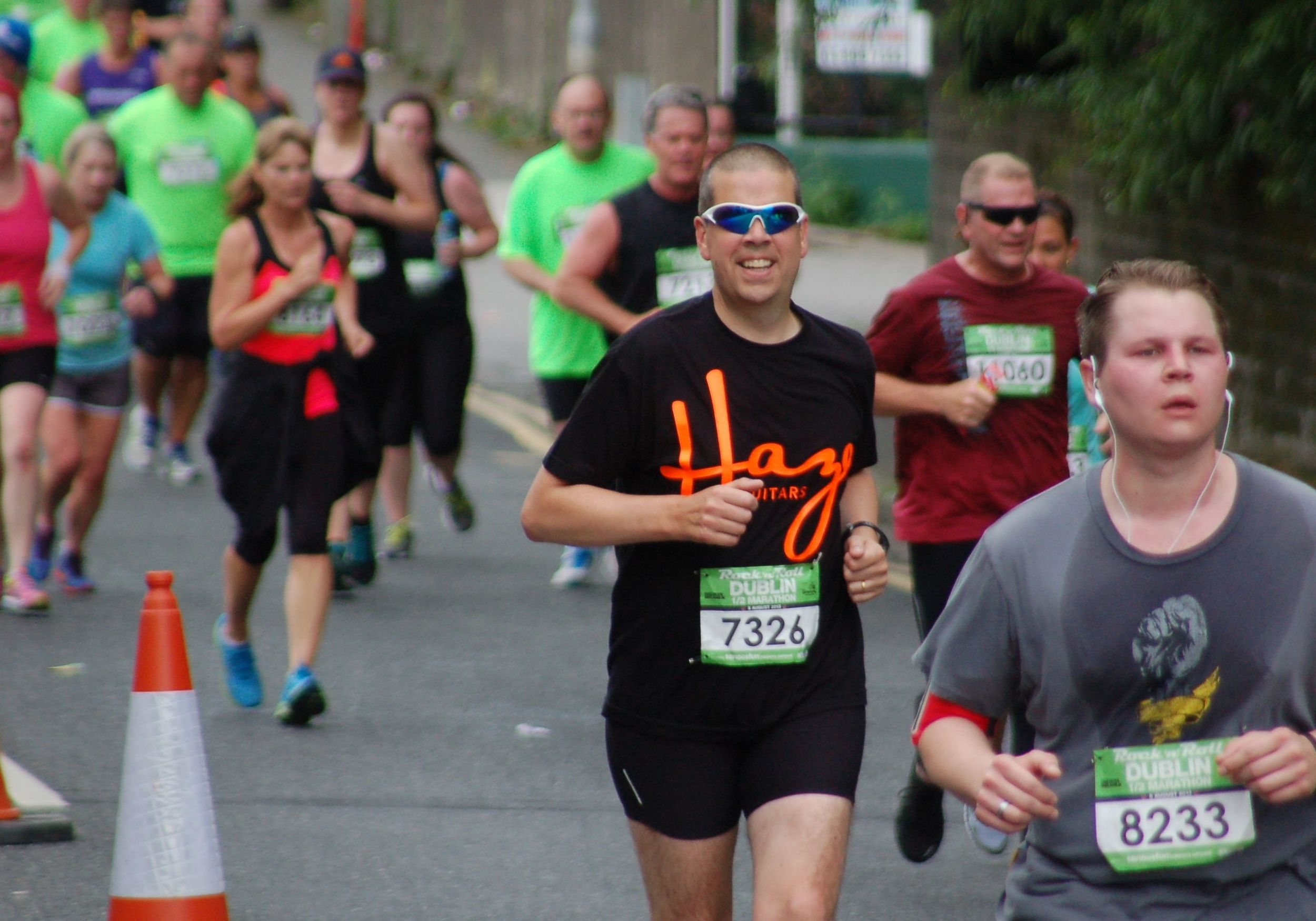 Niall looking strong in the Rock 'n' Roll Half Marathon