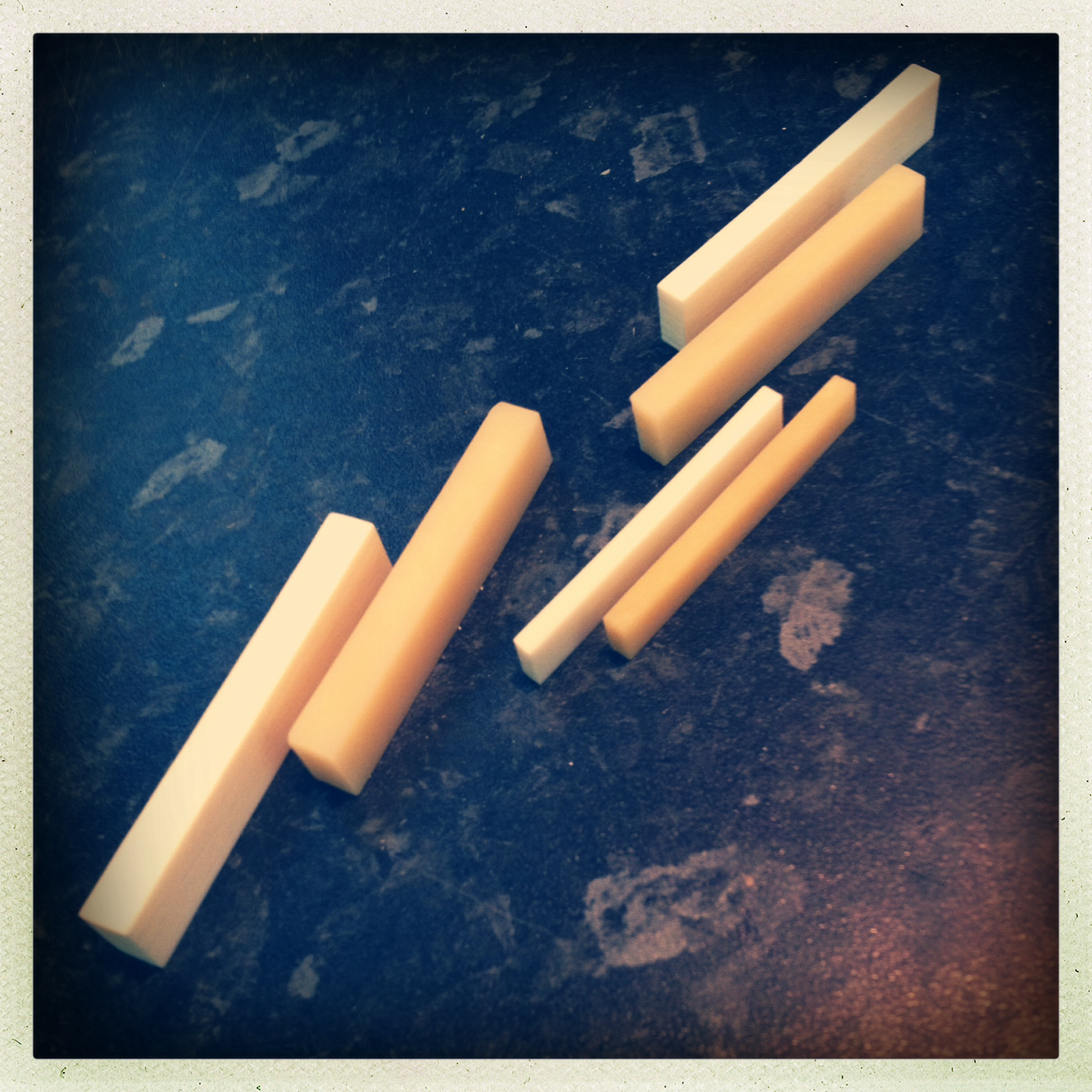 Bone nut blanks - bleached and unbleached