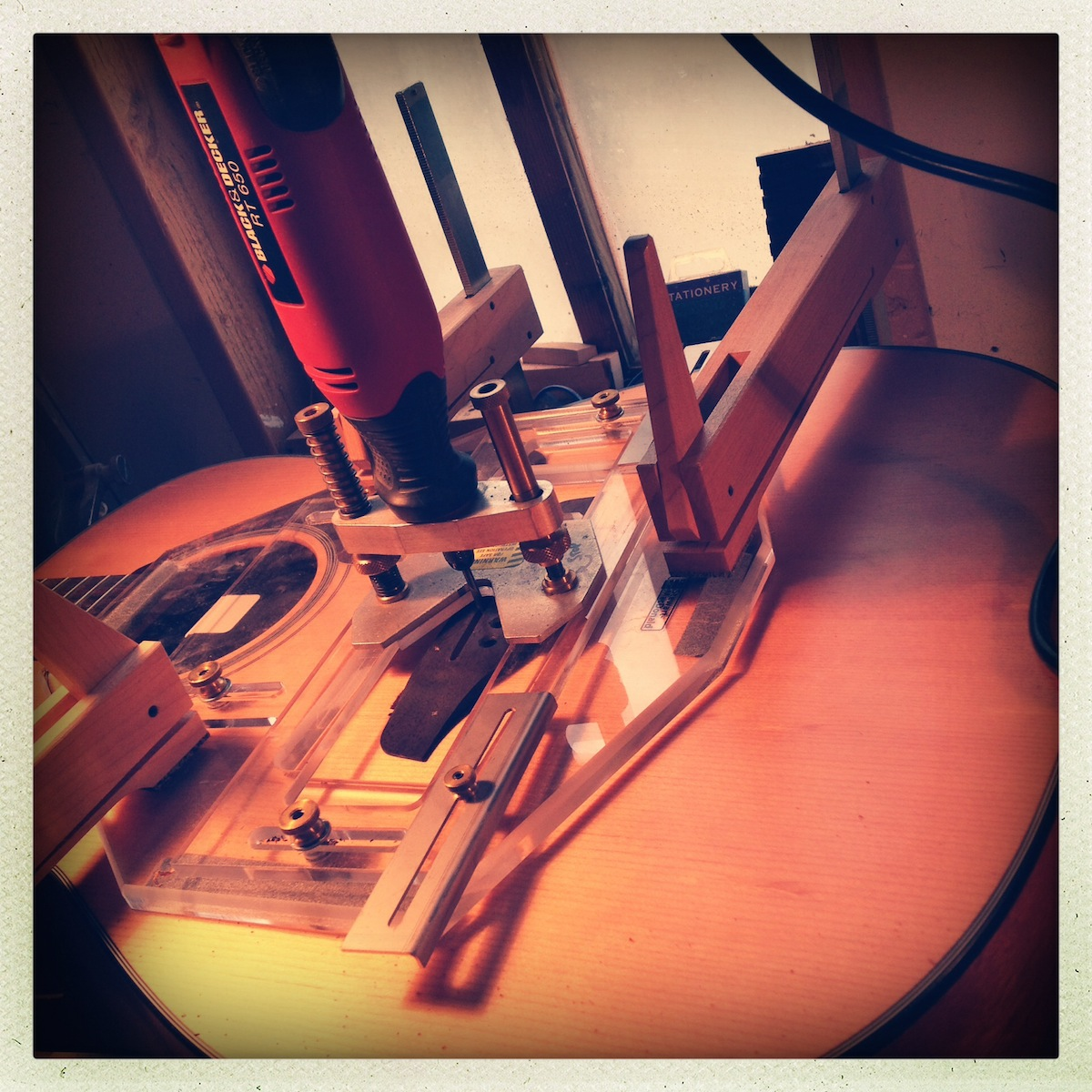 Lowering acoustic guitar saddle slot for UST