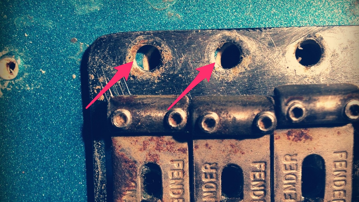 Mounting holes misaligned. These need to be plugged and re-drilled in the correct place.