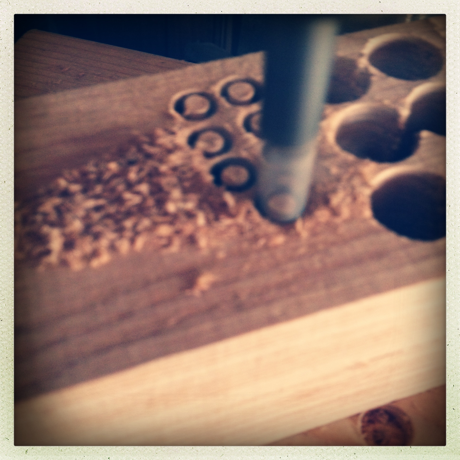 Cut your plugs from matching wood wherever you can. Always use hardwood plugs.
