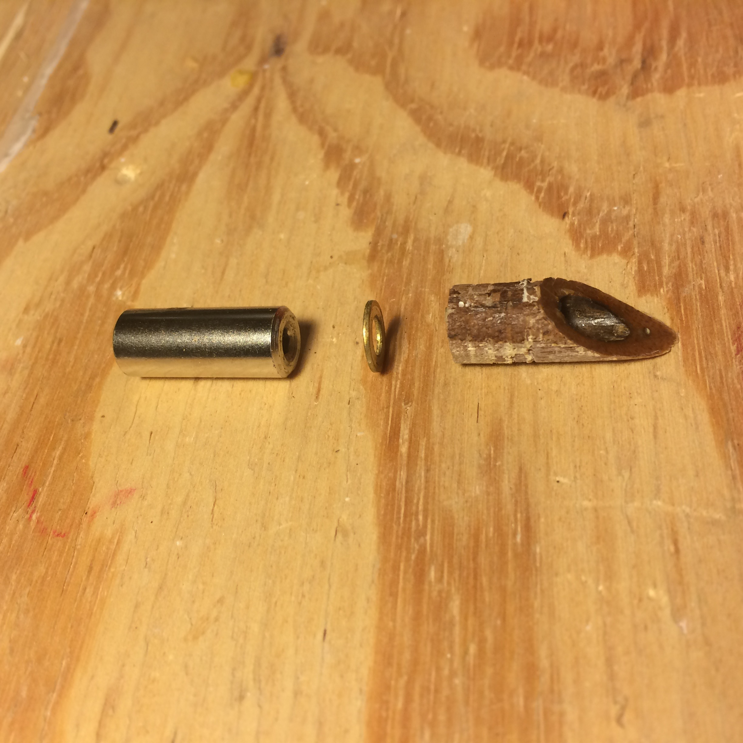 Here's how they install: Truss Rod Nut - Washer - Walnut Headstock Plug