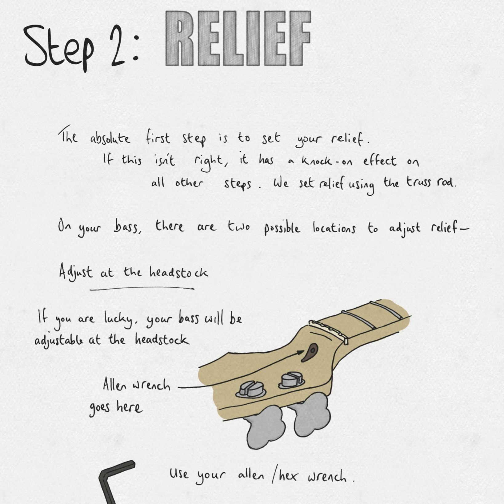Sketchy Setups Bass Neck Relief Truss Rod
