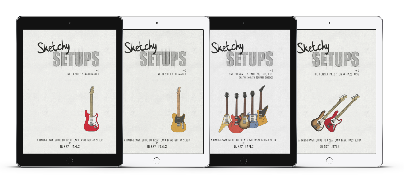 The easy way to setup your guitar and bass.