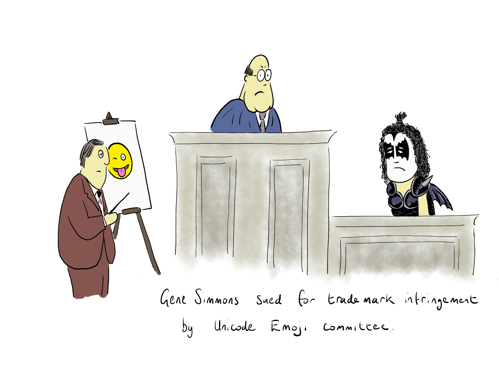Gene Simmons sued for trademark infringement by Unicode Emoji committee.