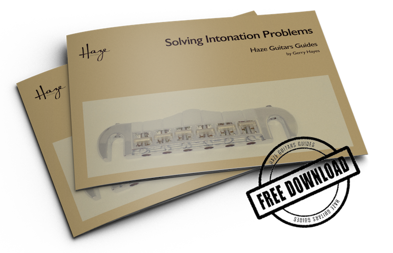 Free guide to solve intonation problems on guitar and bass