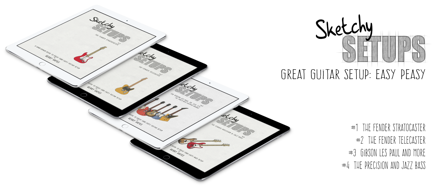 Ebook download. Guitar and bass setup guides. Easy, step-by-step instructions