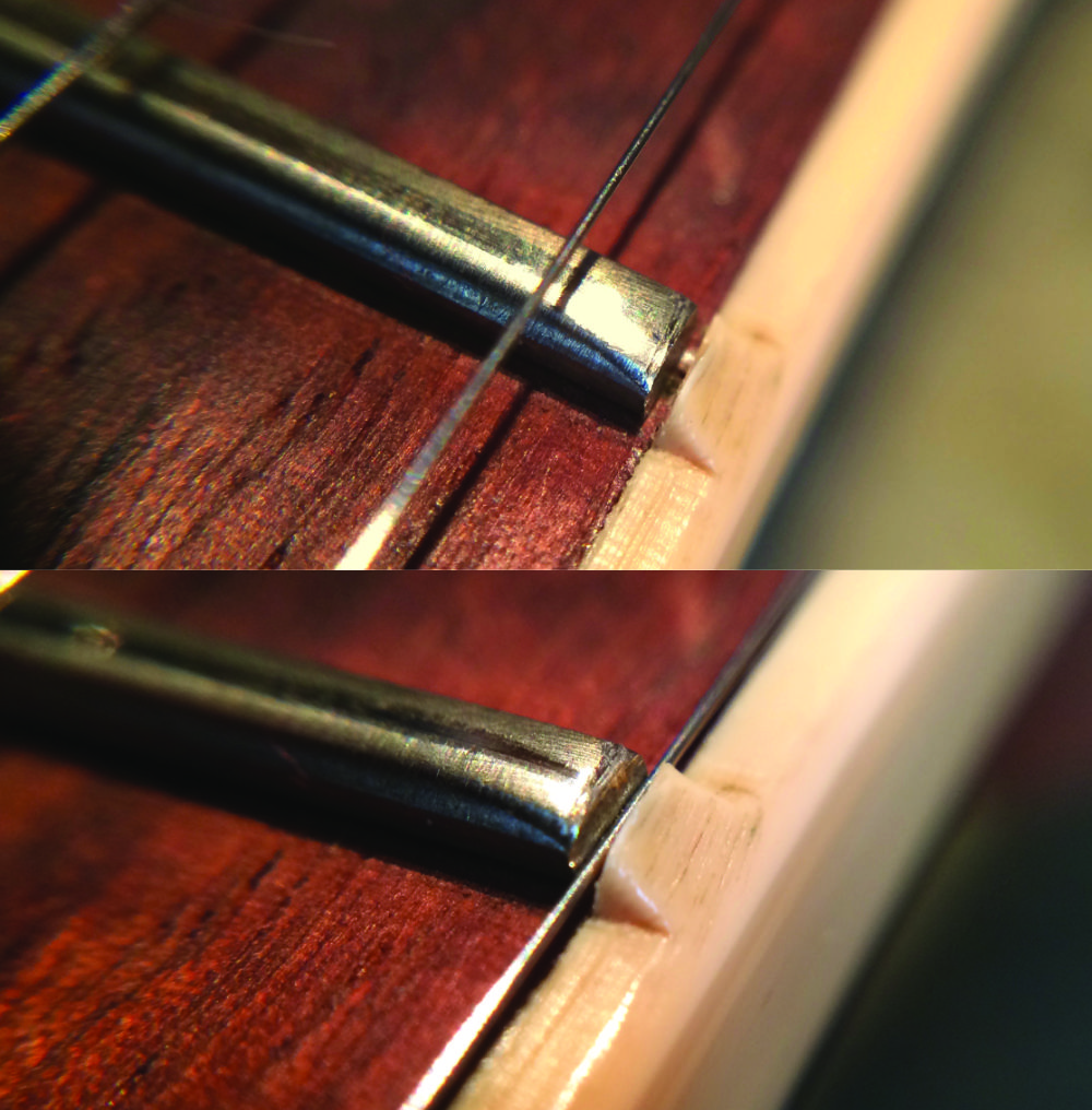 Any gaps between fret and binding nib can be a nightmare for a player