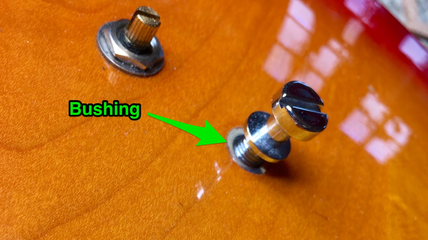 Stuck Stuff: Removing tun-o-matic Bushings — Haze Guitars