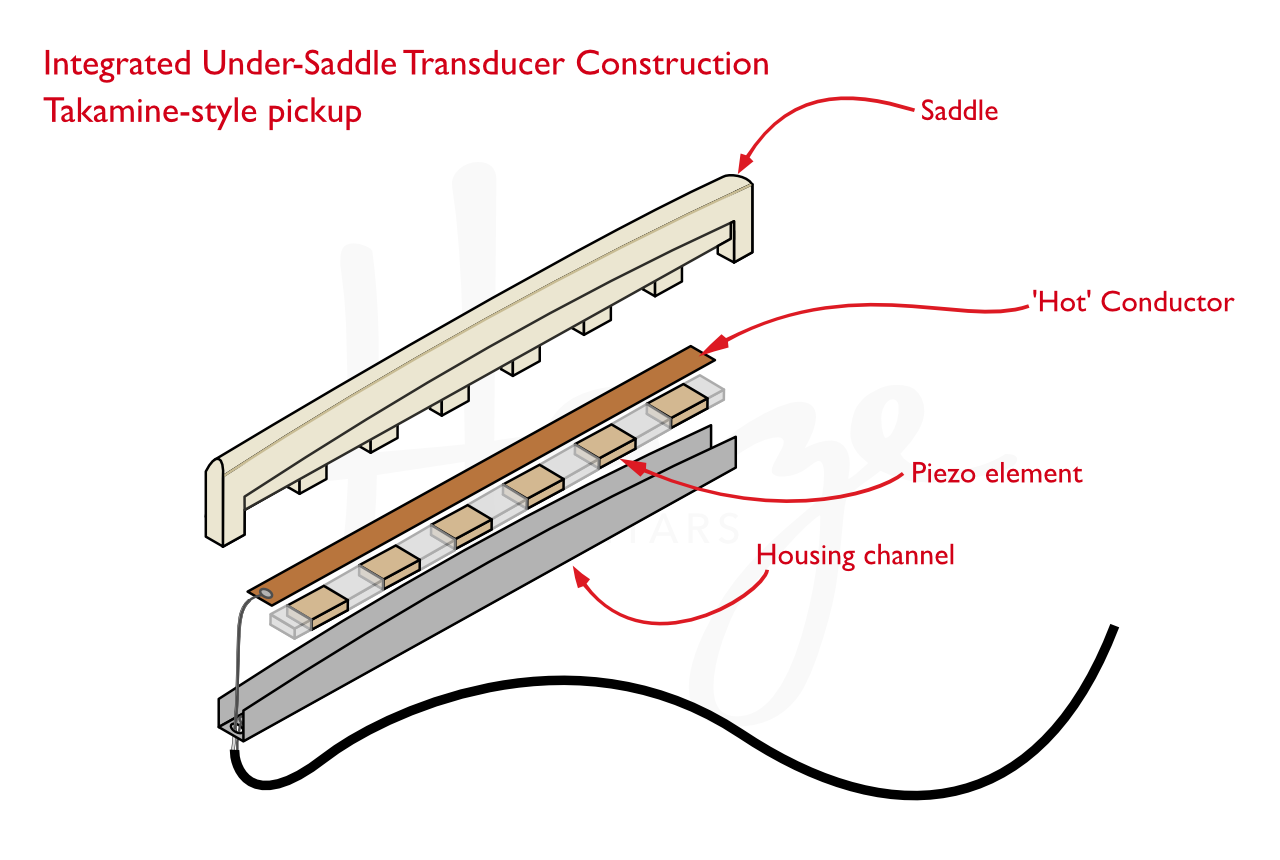 Hum Problems with Bone Saddles and Takamine-Style Pickups ... on jackson guitar wiring diagrams, bass guitar wiring diagrams, ibanez guitar wiring diagrams, electric guitar wiring diagrams,