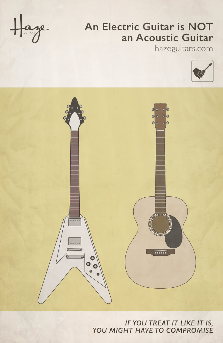 Don't treat an electric guitar like an acoustic guitar. It's not!