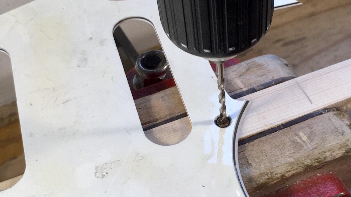 Drilling to remove screw head