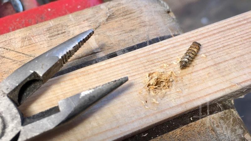 Extracted screw