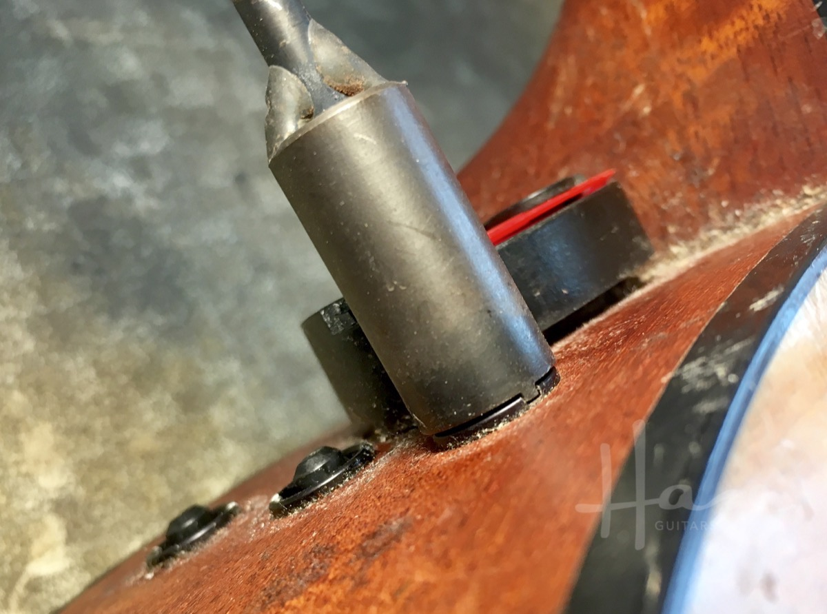 Taylor's own preamp bushing removal tool