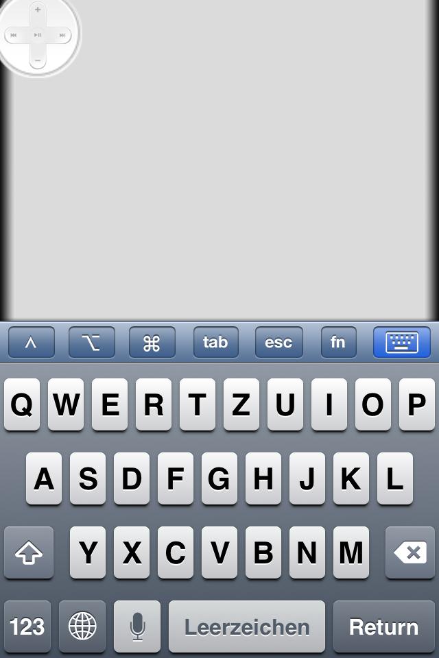 Rowmote Trackpad und Tastatur