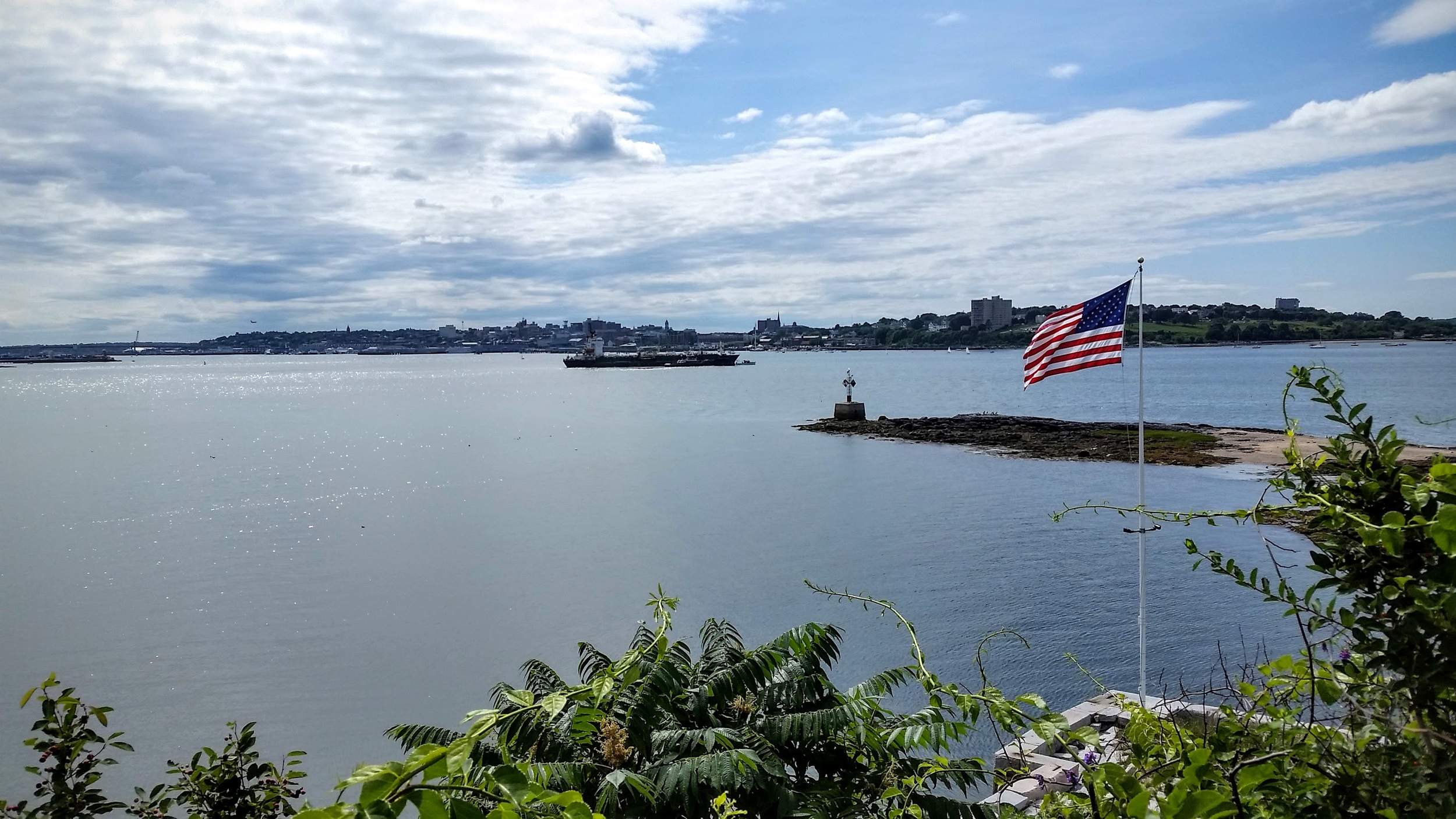 The View From Fort Gorges in Maine