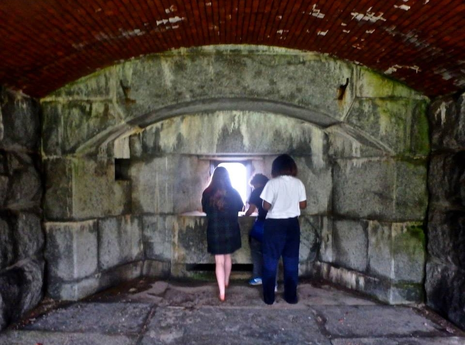 Tour of Fort Gorges in Maine