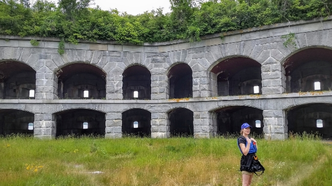 A Tour  of Fort Gorges in Portland, Maine
