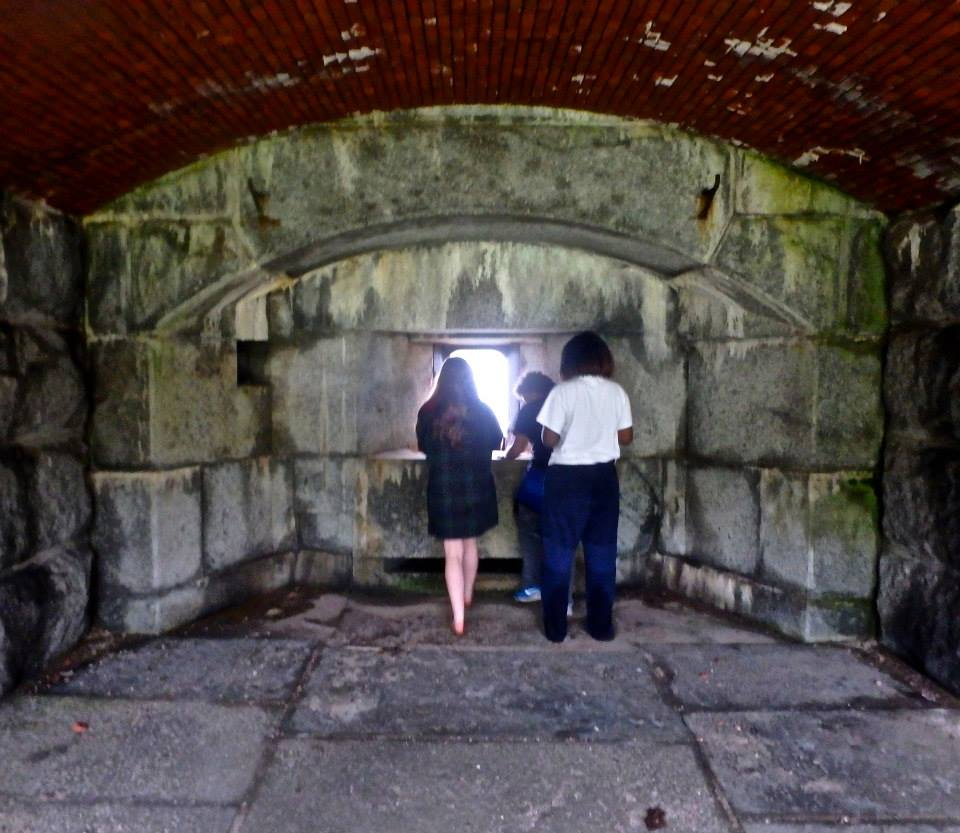 Learning about the history of Fort Gorges