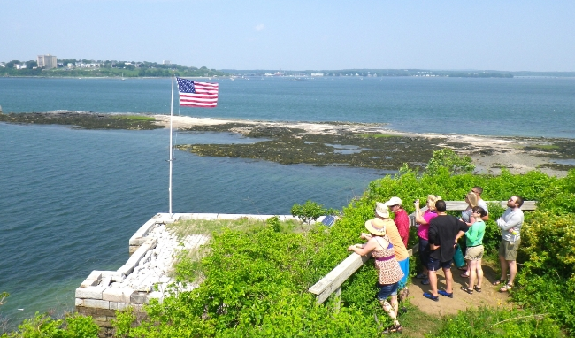 Looking west at Portland from the third floor of Fort Gorges (Photo: Joe Guglielmetti)