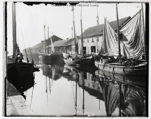 Portland wharves in 1890 (Maine Memory Network)