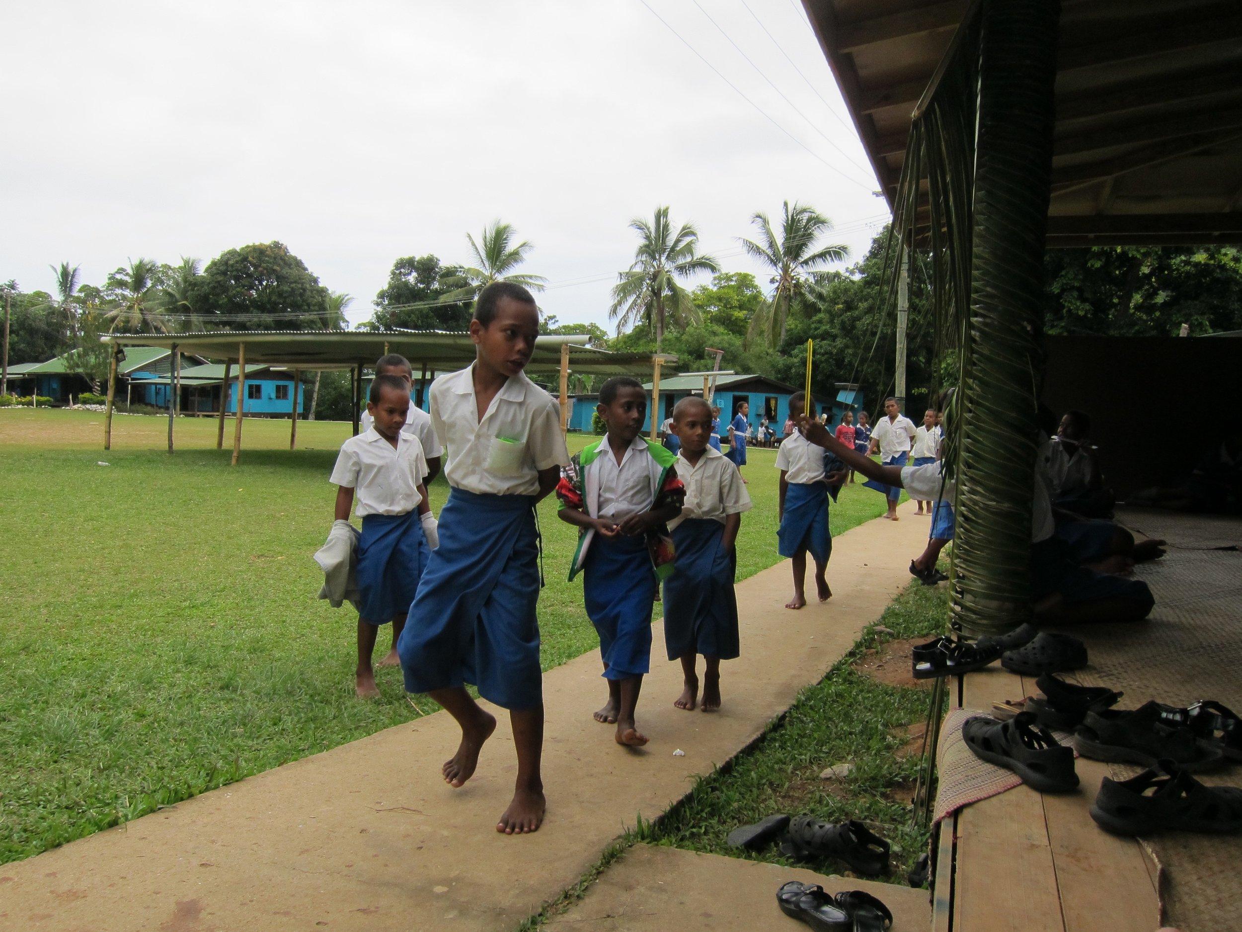 13  School kids on exam day, Kadavu Village.jpg