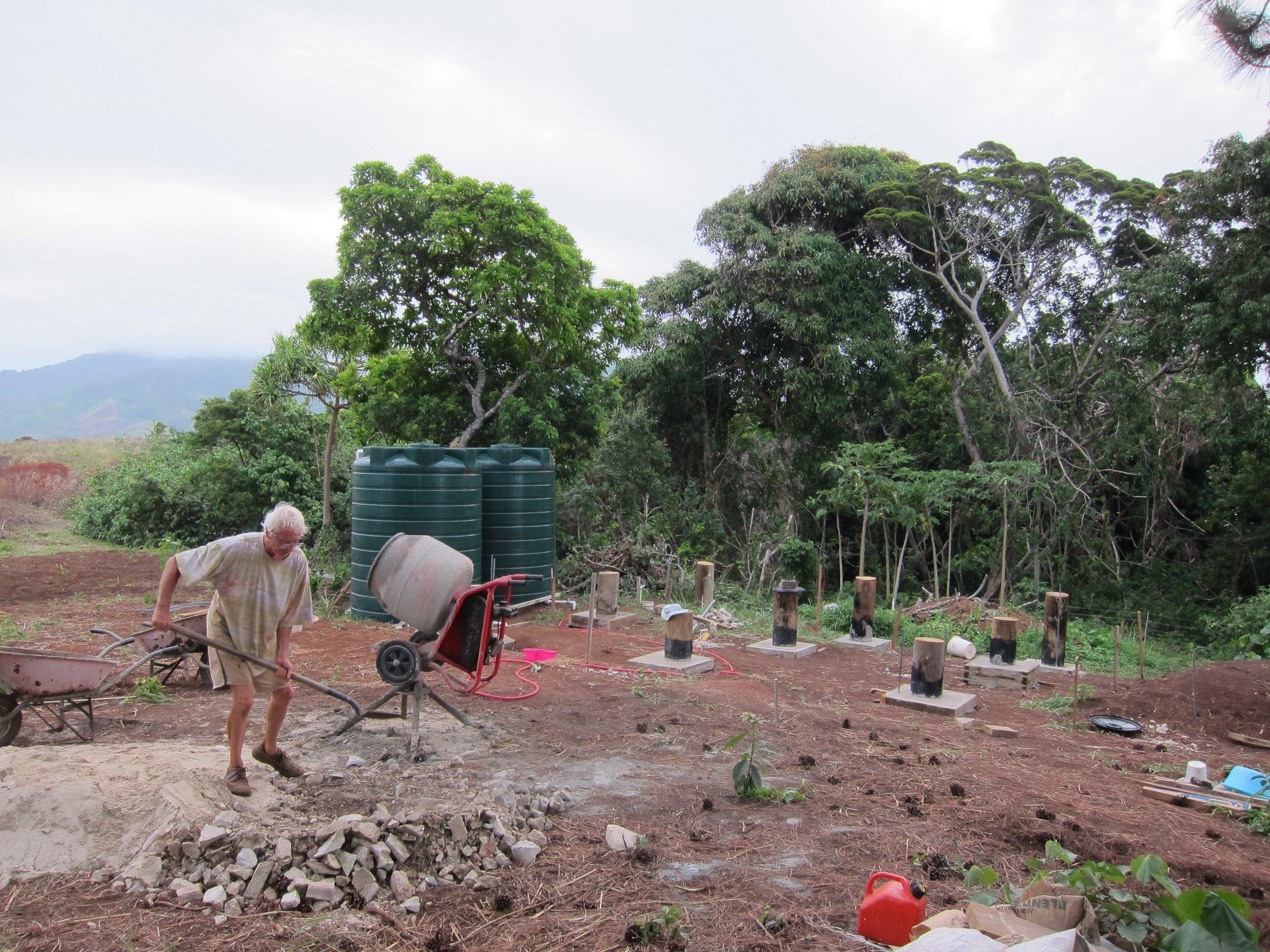 30   Xavier and his future house, Galoa Island.jpg