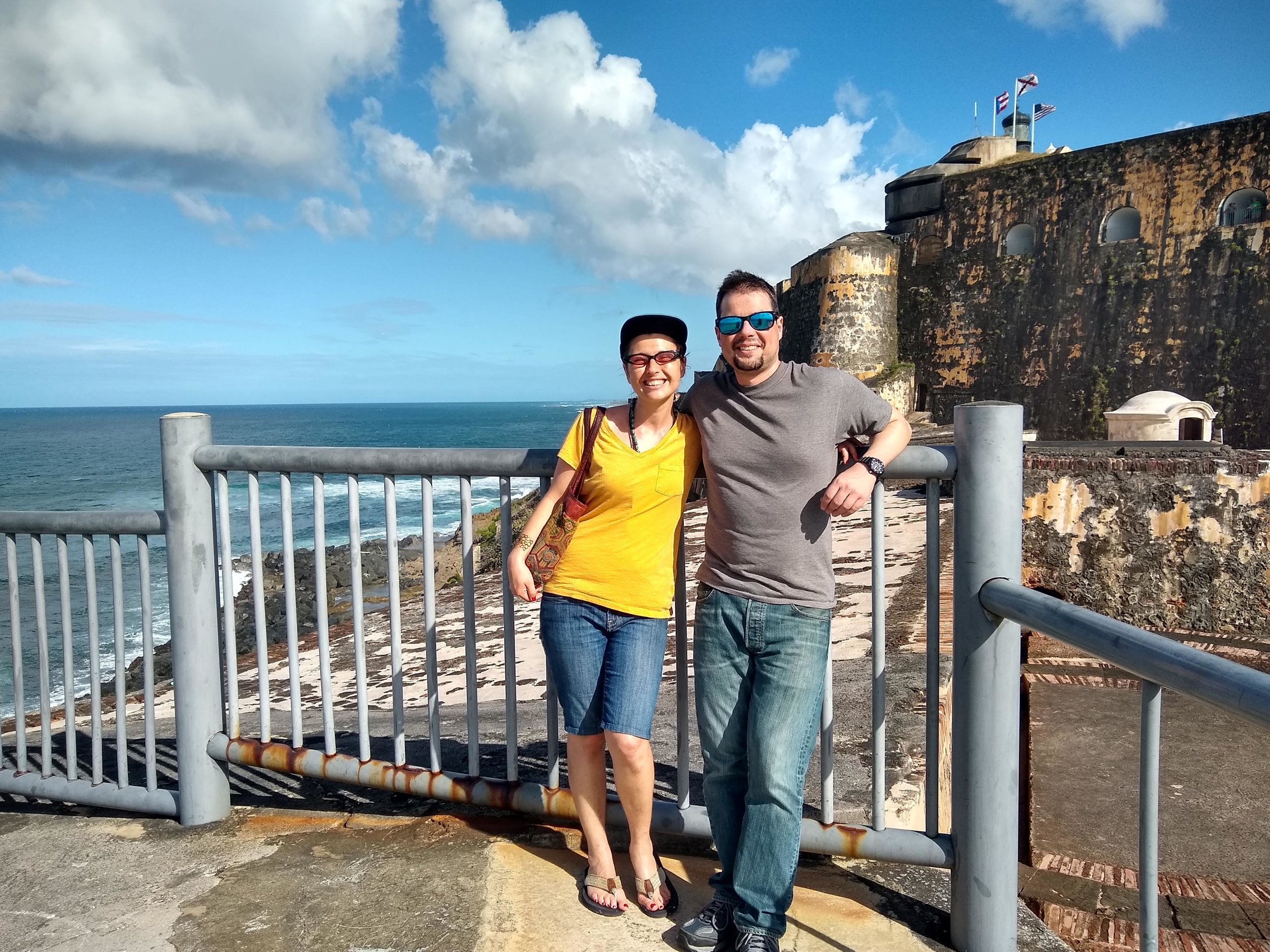 Sam has been exploring historic fortresses in Puerto Rico with his sister