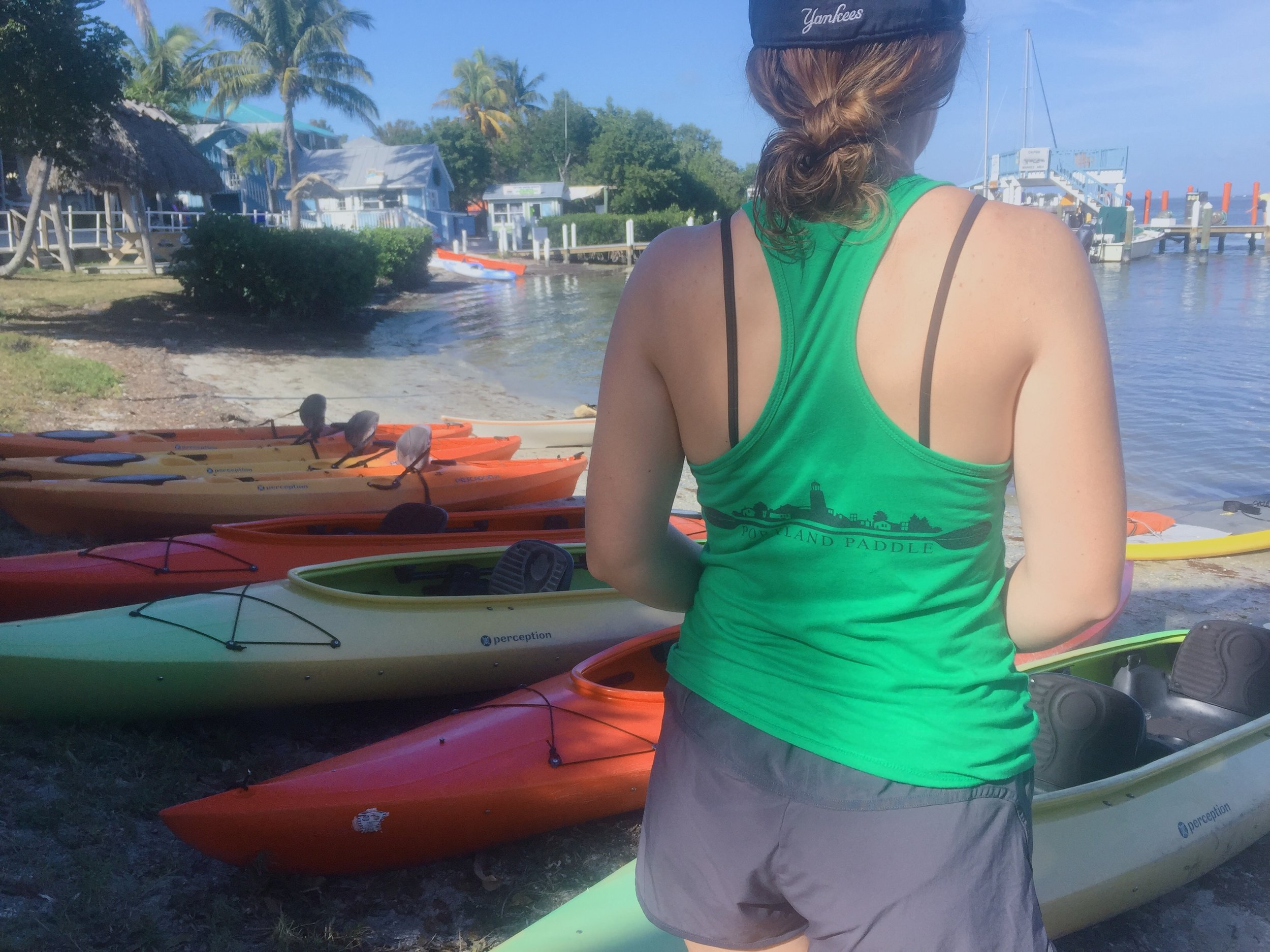 Zoe has been paddling at Pine Island Sound in Florida (with her mom, Portland Paddle guide Cathy)