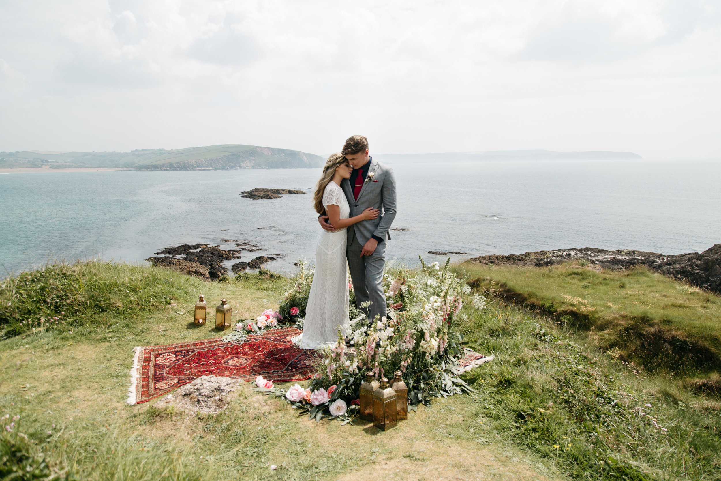 emma barrow burgh island elopement wedding photographer
