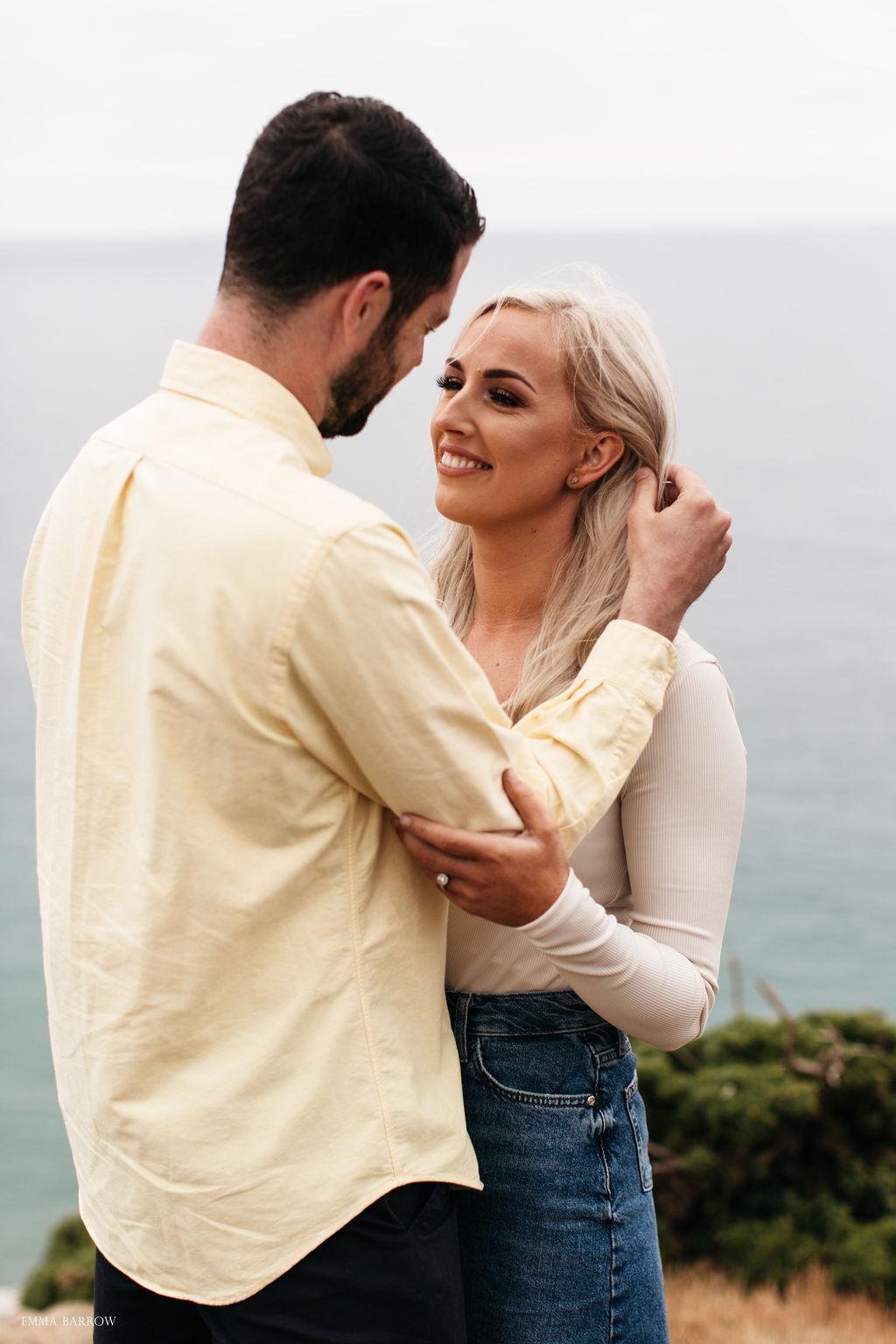 emma barrow pre wedding photographer proposal engagement gala rock salcombe plymouth