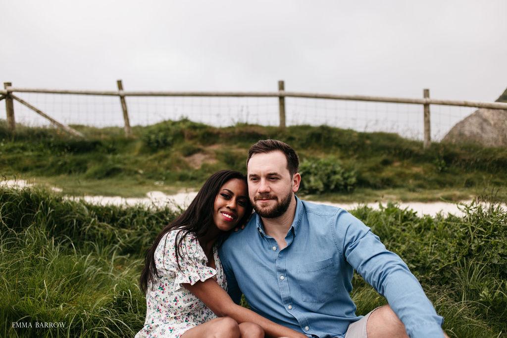 emma barrow lulworth cove dorset dorchester pre wedding photographer engagement proposal