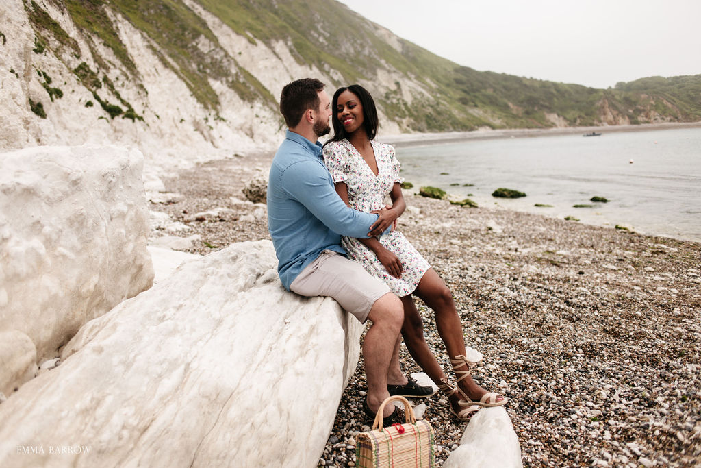 emma barrow lulworth cove dorset dorchester pre wedding photographer engagement proposal