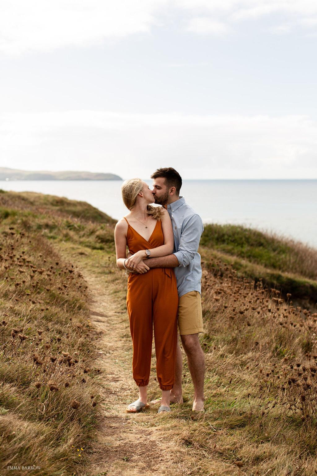 emma barrow photographer jamie sam pre wedding big bury beach plymouth devon