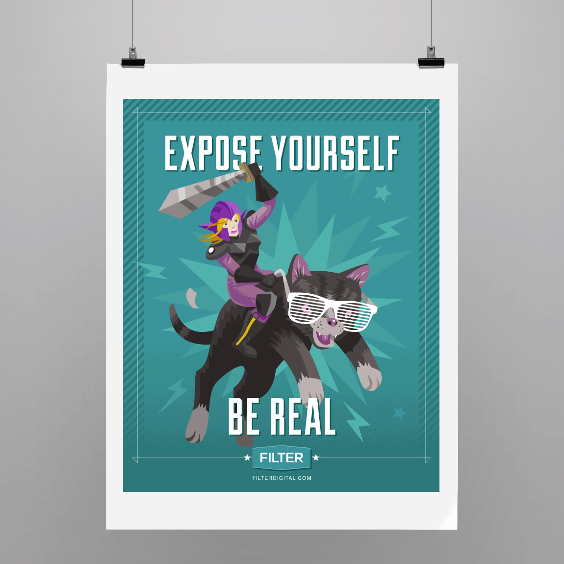 Expose yourself. Be real.