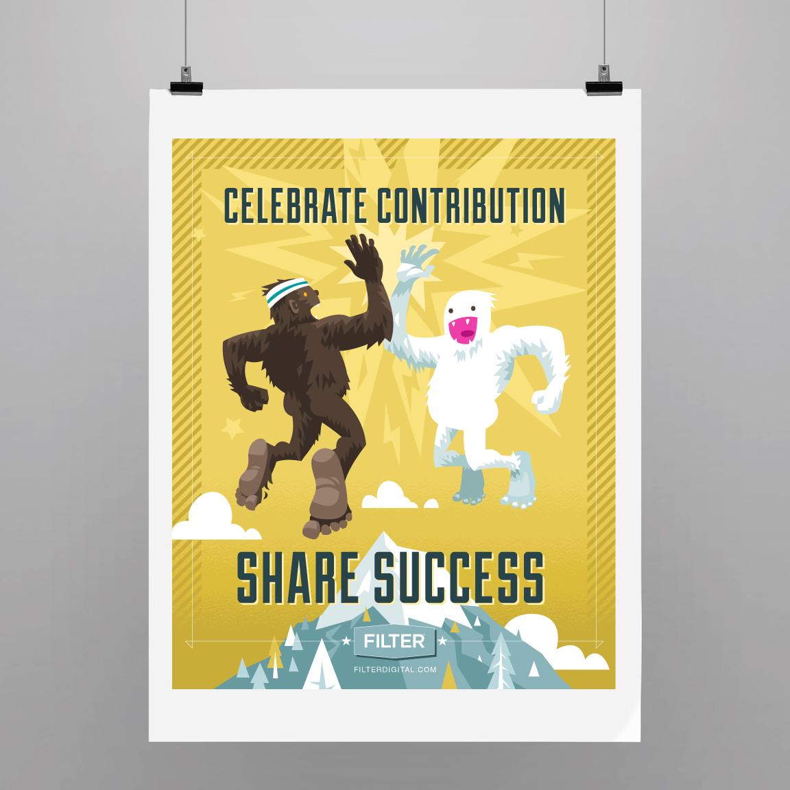 Celebrate contribution. Share success.