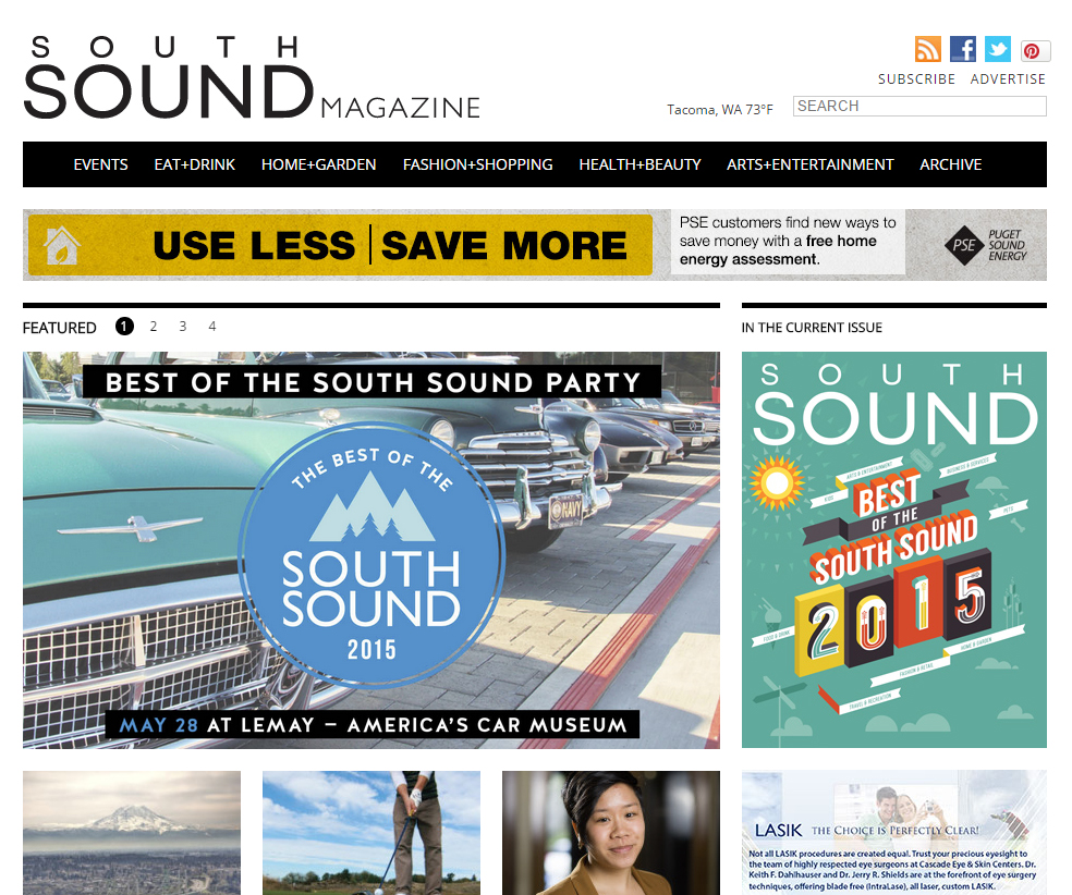 Web page with cover.