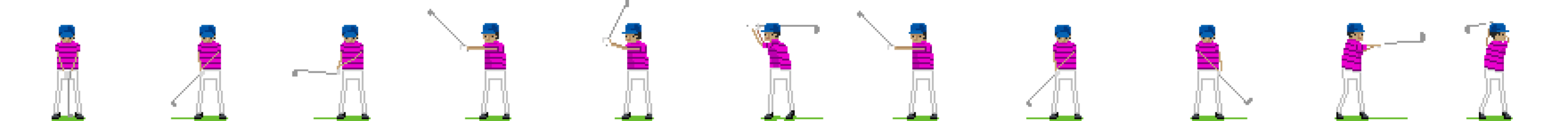 Sprite Sheet of Golfer Swinging.