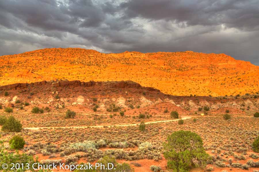 Thunderstorms roll over the Utah/Arizona border during an extremely hot July.