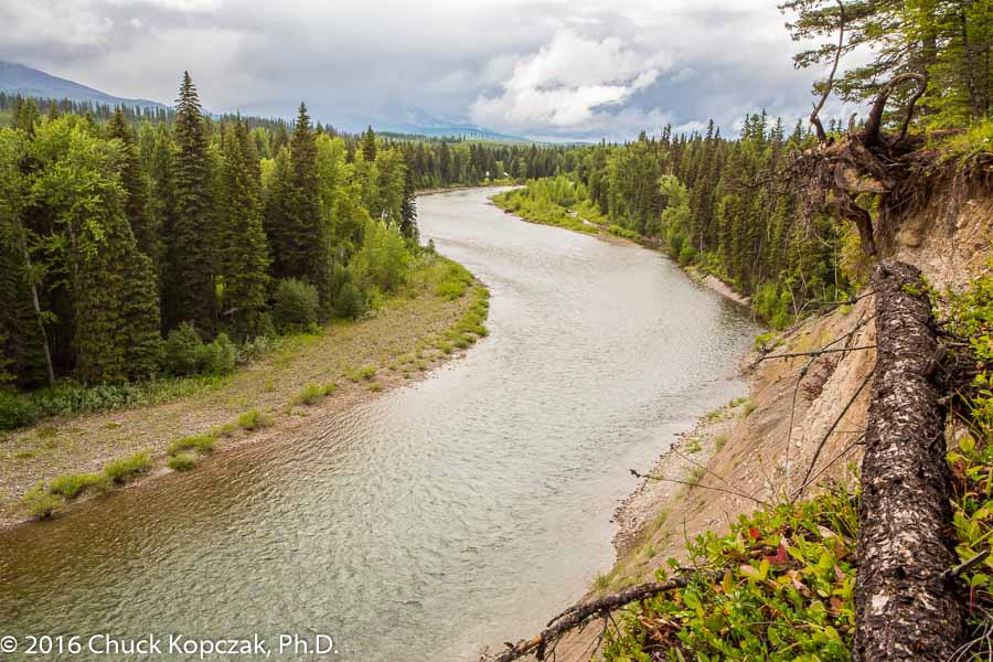 North Fork of the Flathead River running along the western edge of Glacier National Park, Montana.