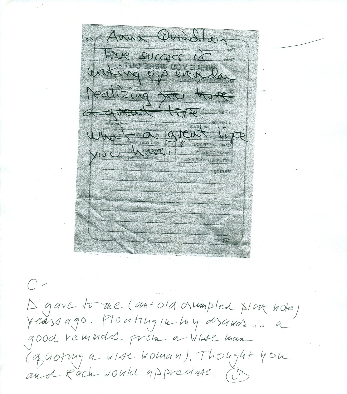 DK Note Anna Quindlan Success.jpg