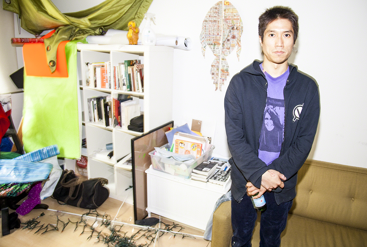 Tao Lin, author of Taipei, at home