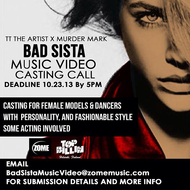 TT The Artist and Murder Mark - Bad Sista Offical Casting Flyer.jpg