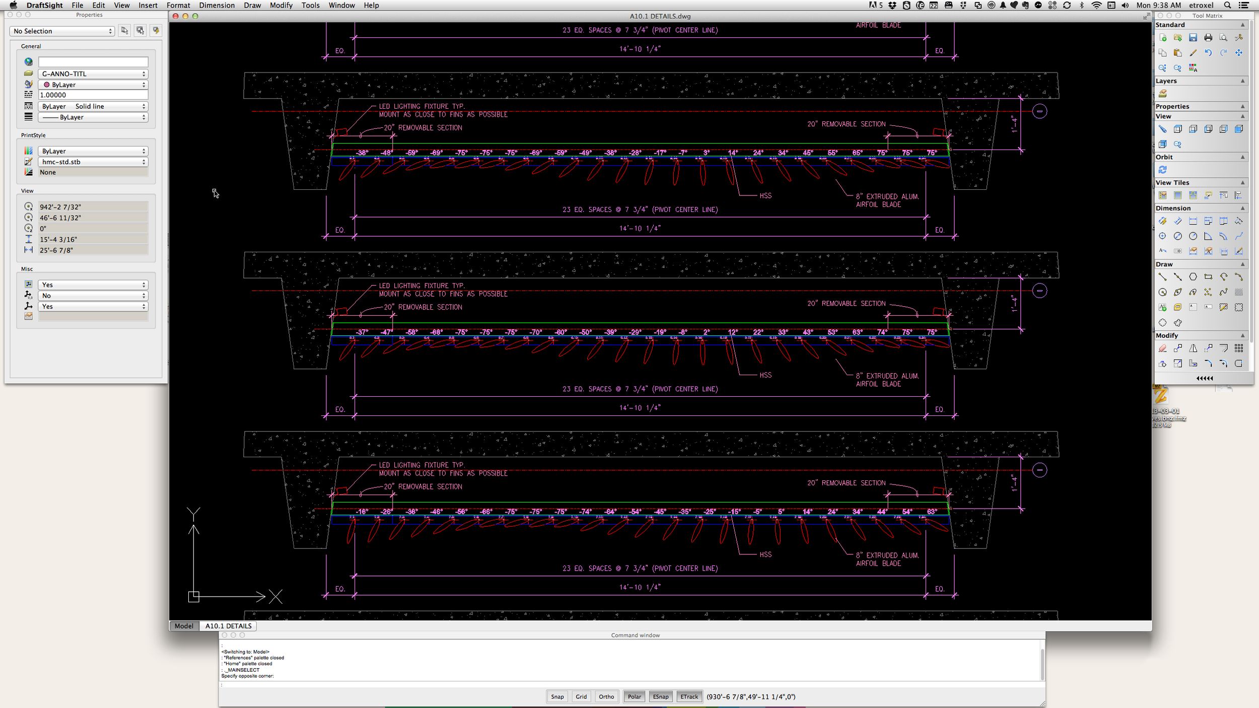 DraftSight running on my Mac (click for a full screen zoom).
