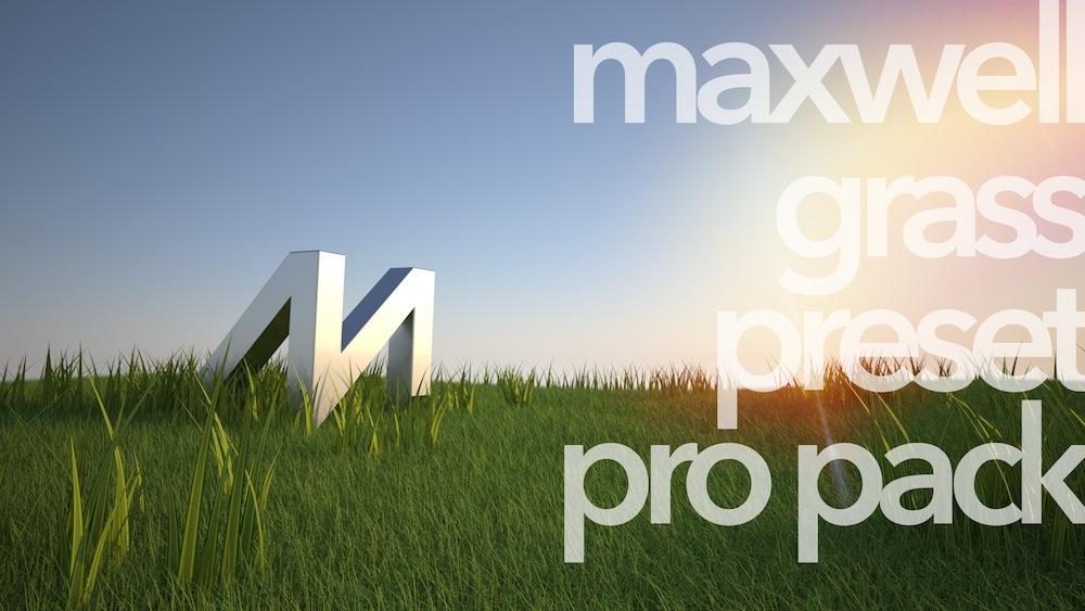 Easy-to-use presets for photo-real 3d grass and plants for SketchUp, FormZ & Bonzai3d with Maxwell Render.