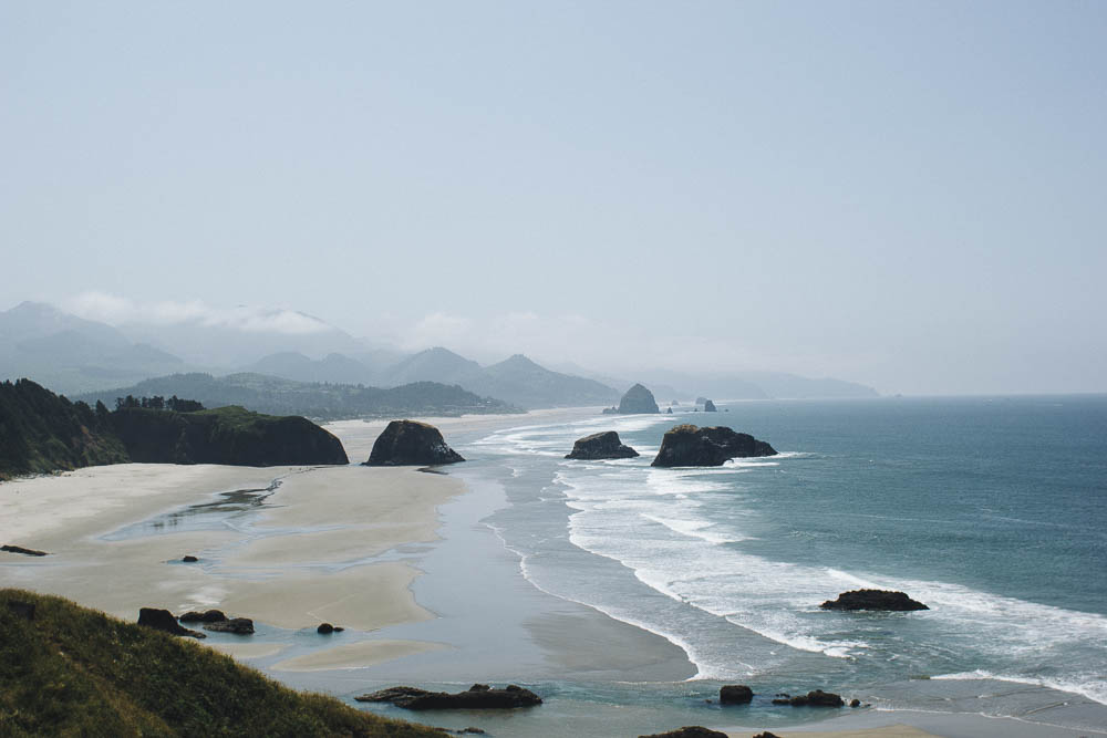 View from Ecola State Park viewpoint, OR.