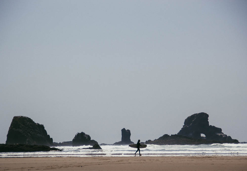 Recreating at Ecola State Park, OR.