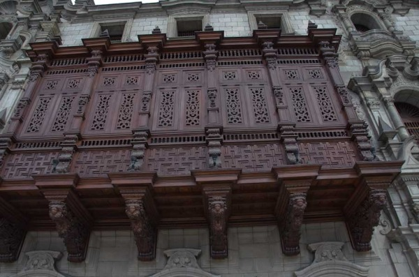 The Archbishop's Palace Balcony - Lima, Peru
